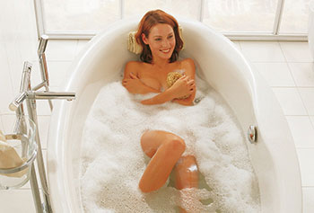 Experience bath tub, whirlpool and steam bath