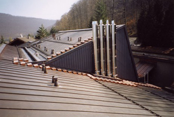 Reconstruction after fire, copper, manufacturing and mounting of steps
