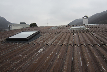 Renovation industrial roof before