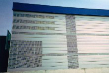 Perforated plate facade