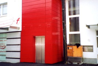 Lift cladding with substructure
