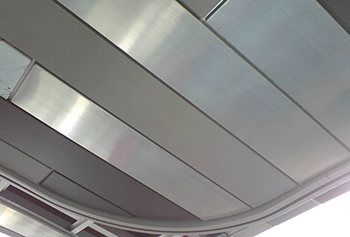 Ceiling lining made from VM-Zinc